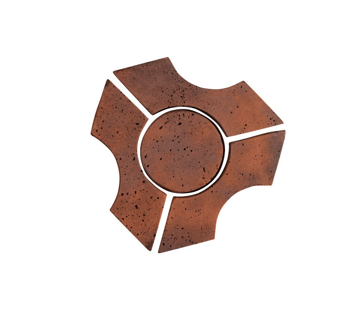 Artillo Arabesque 9B Red Flash Travertine