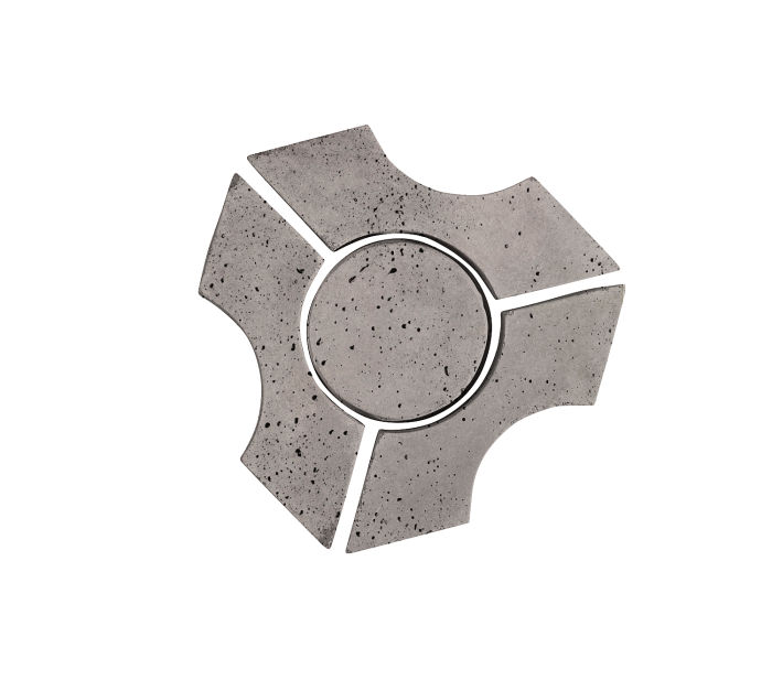 Artillo Arabesque 9B Sidewalk Gray Travertine