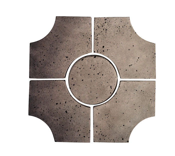 Artillo Arabesque 9C Antik Gray Travertine