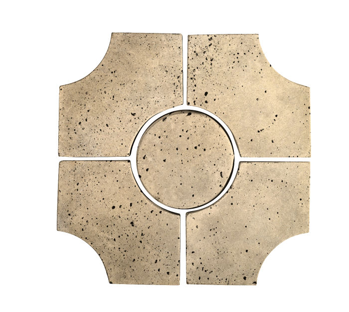 Artillo Arabesque 9C Bone Travertine