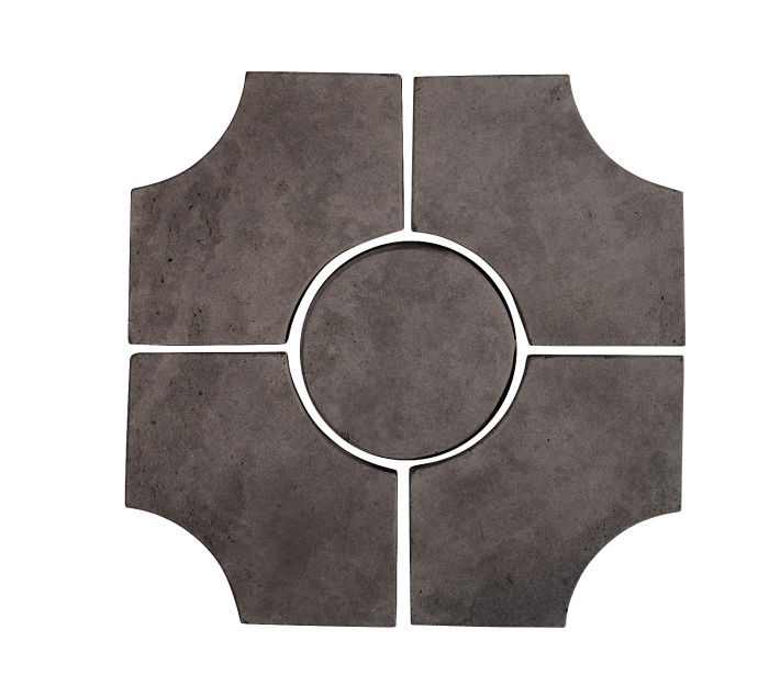 Artillo Arabesque 9C Charcoal Limestone