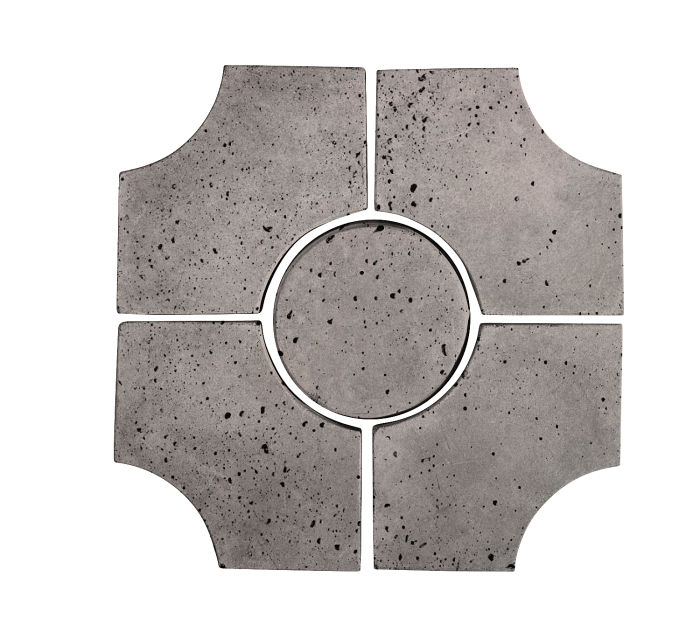 Artillo Arabesque 9C Sidewalk Gray Travertine