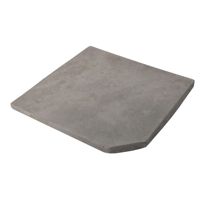 12x12 Artillo Clipped Corner Sidewalk Gray Limestone