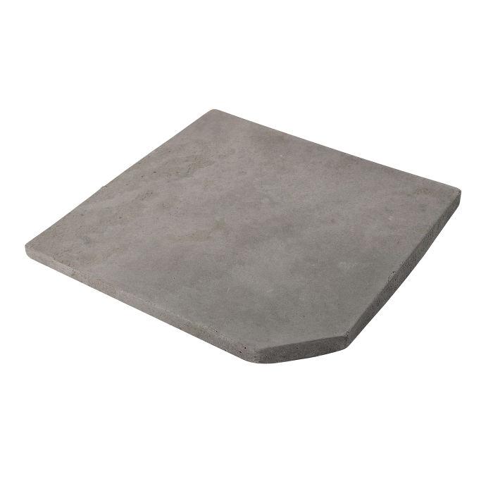 12x12 Artillo Clipped Corner Sidewalk Gray Limestone