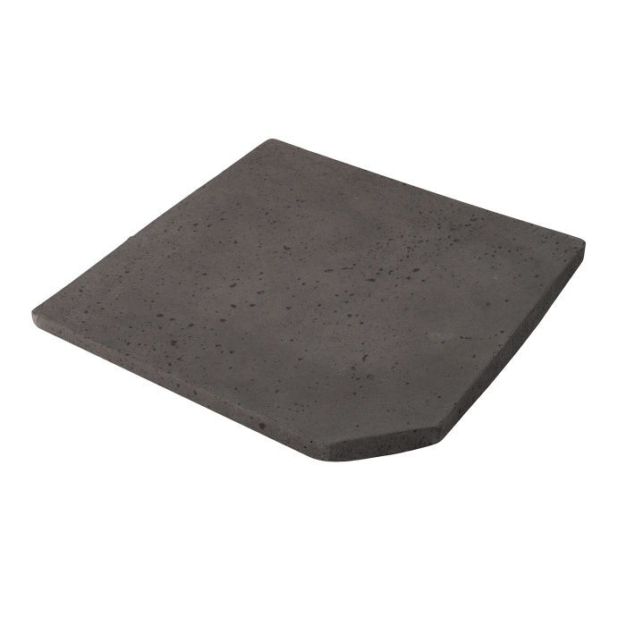 8x8 Artillo Clipped Corner Charcoal Travertine