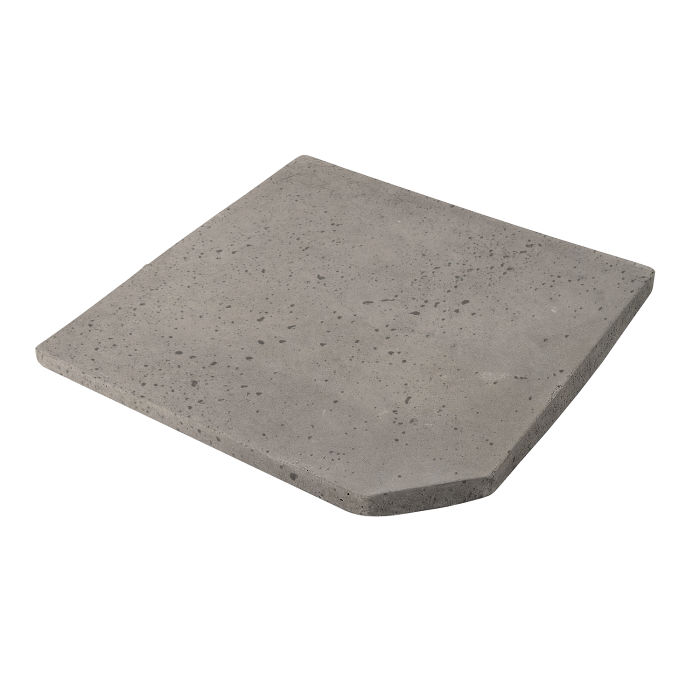 8x8 Artillo Clipped Corner Natural Gray Travertine