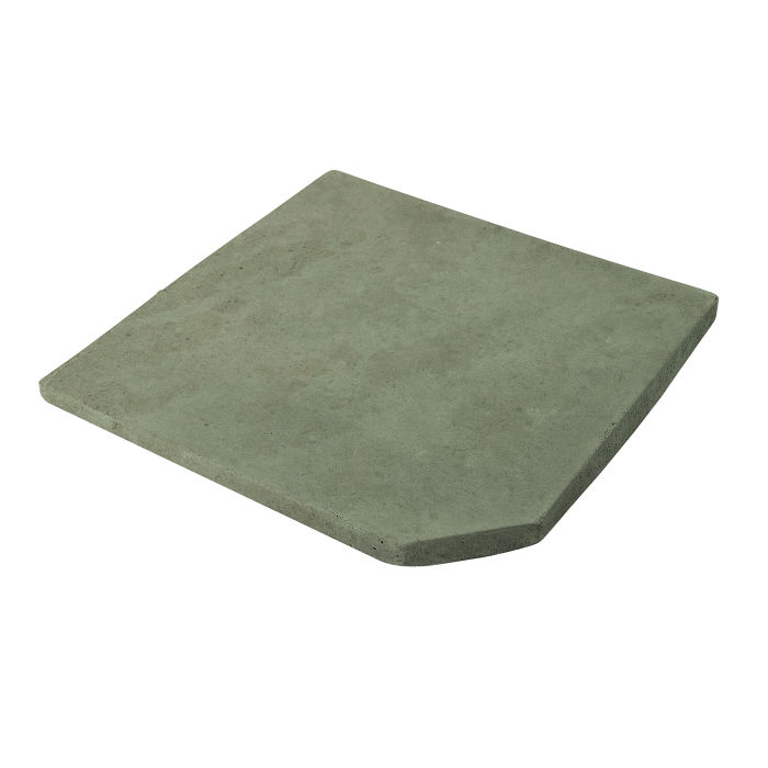 8x8 Artillo Clipped Corner Ocean Green Light Limestone