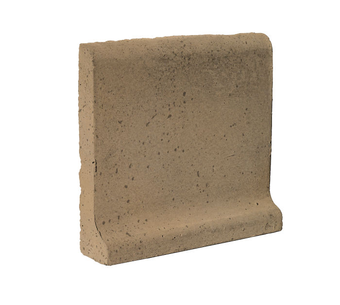 6x6 Cove Base Bullnose Top Caqui Travertine