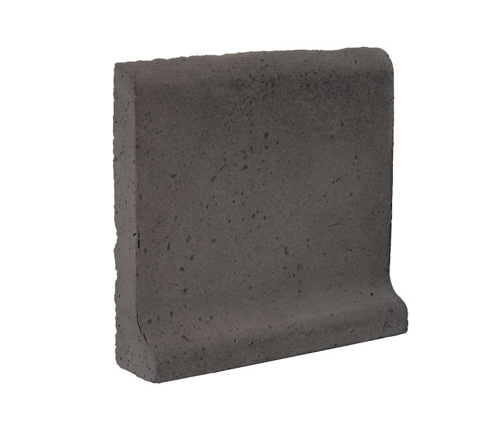 6x6 Cove Base Bullnose Top Charcoal Travertine