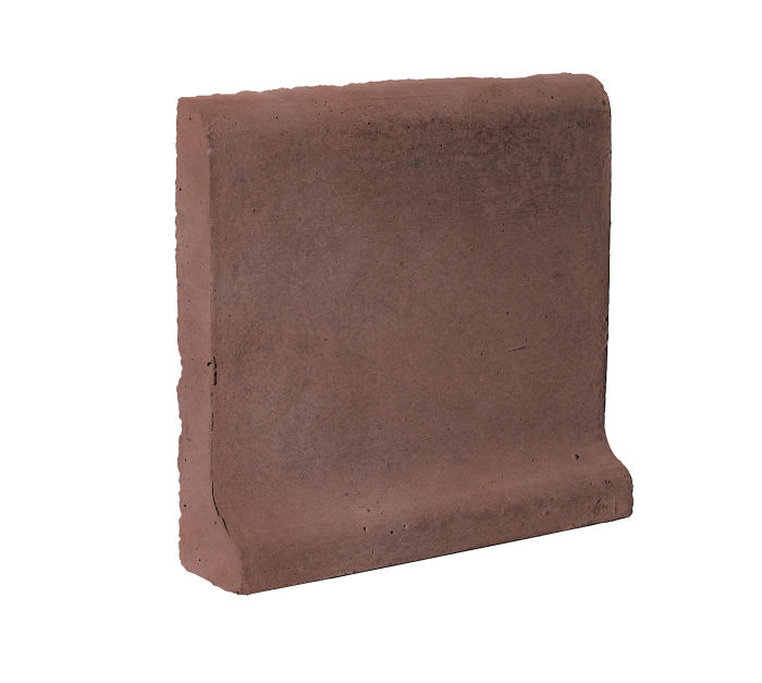 6x6 Cove Base Bullnose Top City Hall Red Limestone