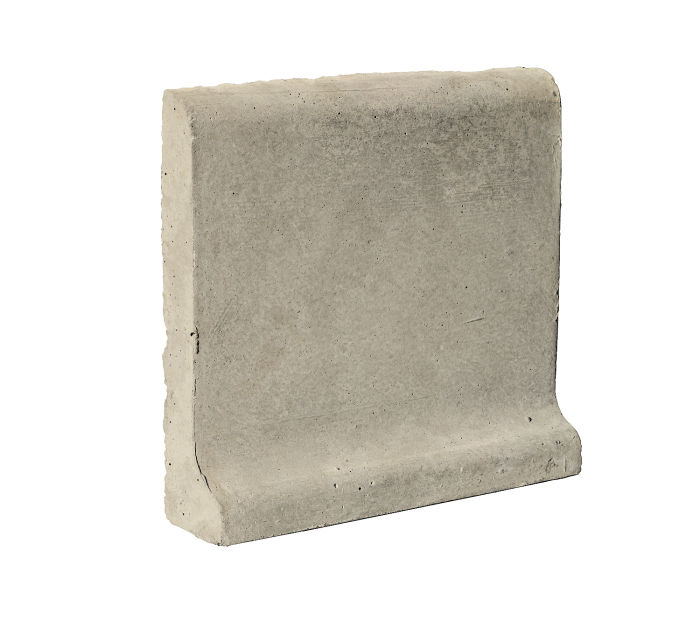 6x6 Cove Base Bullnose Top Early Gray Limestone