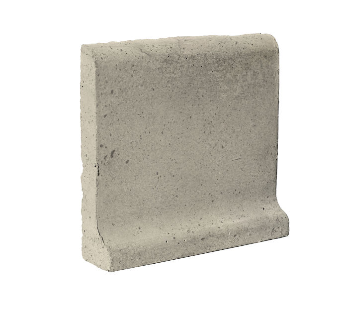 6x6 Cove Base Bullnose Top Early Gray Luna