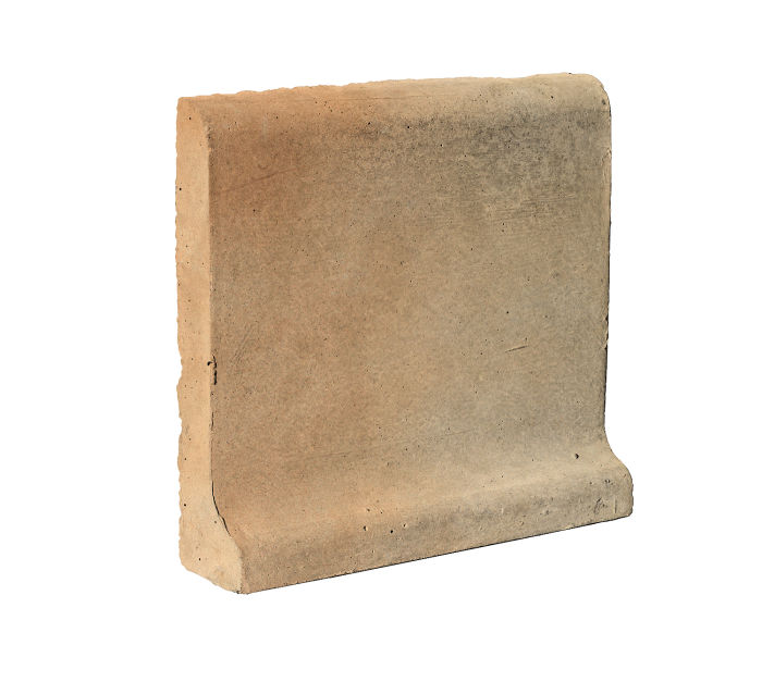 6x6 Cove Base Bullnose Top Hacienda Flash Limestone