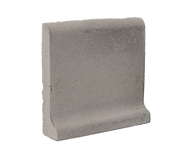 6x6 Cove Base Bullnose Top Natural Gray
