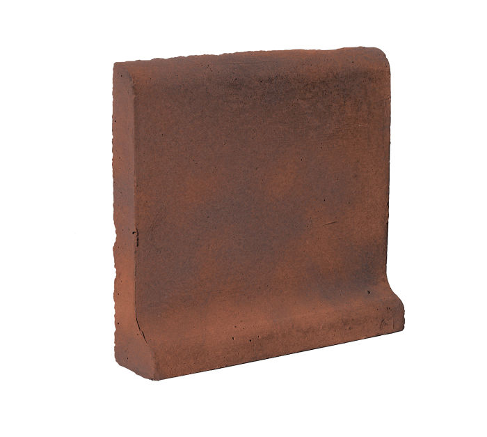 6x6 Cove Base Bullnose Top Red Flash
