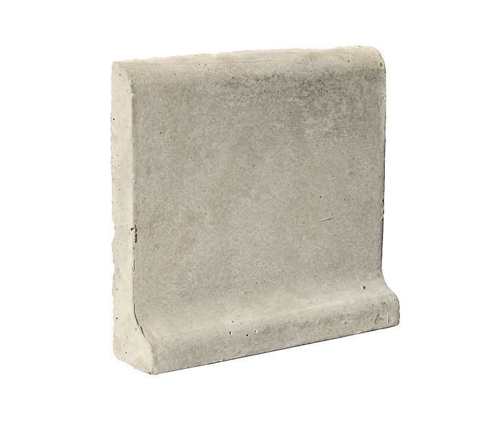 6x6 Cove Base Bullnose Top Rice Limestone