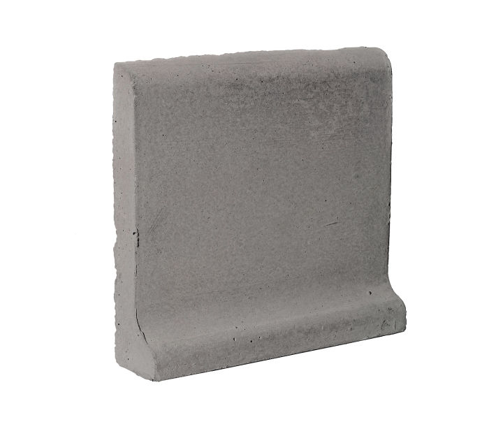 6x6 Cove Base Bullnose Top Sidewalk Gray