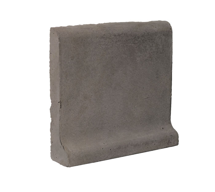 6x6 Cove Base Bullnose Top Smoke Limestone