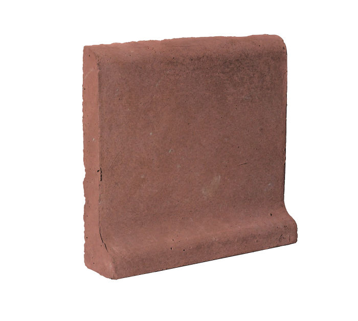 6x6 Cove Base Bullnose Top Spanish Inn Red Limestone