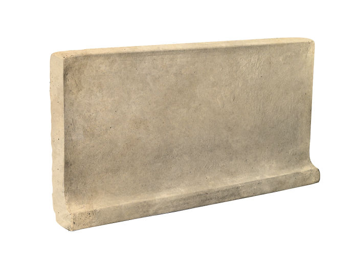 6x12 Cove Base Flat Top Bone Limestone
