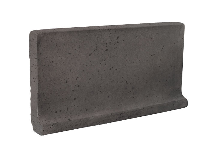 6x12 Cove Base Flat Top Charcoal Travertine
