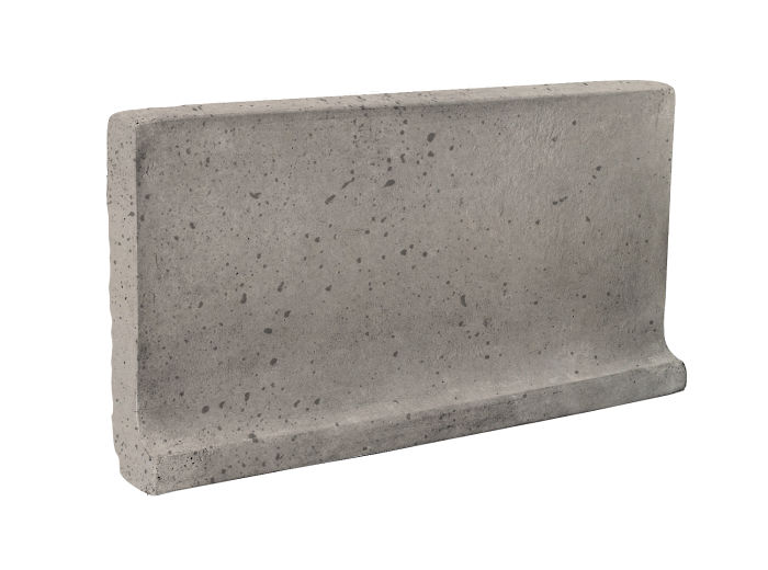 6x12 Cove Base Flat Top Natural Gray Travertine