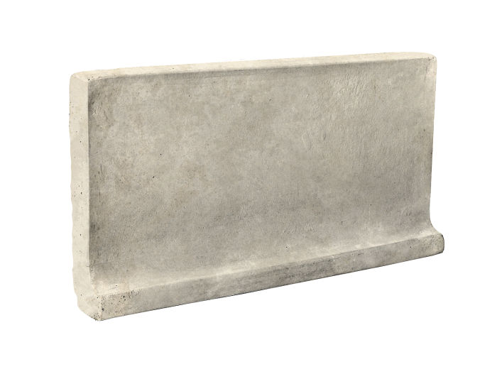 6x12 Cove Base Flat Top Rice Limestone
