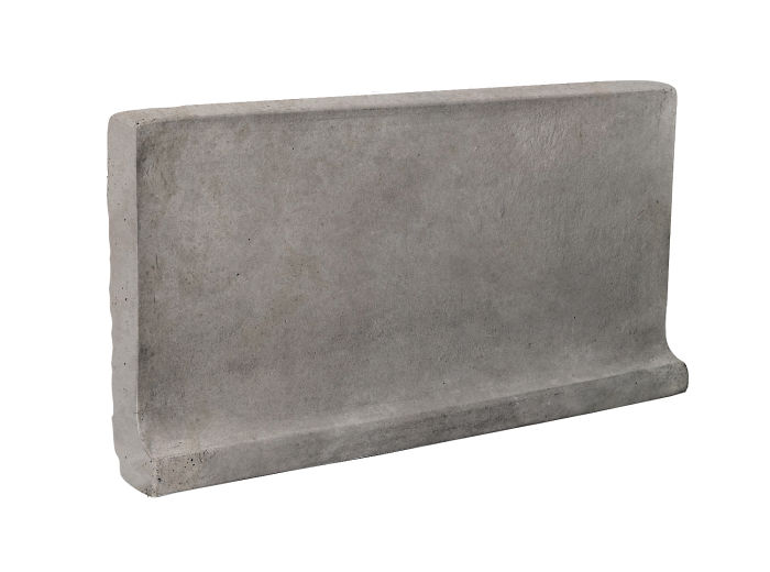 6x12 Cove Base Flat Top Sidewalk Gray Limestone