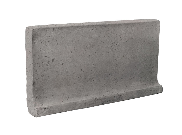 6x12 Cove Base Flat Top Sidewalk Gray Luna
