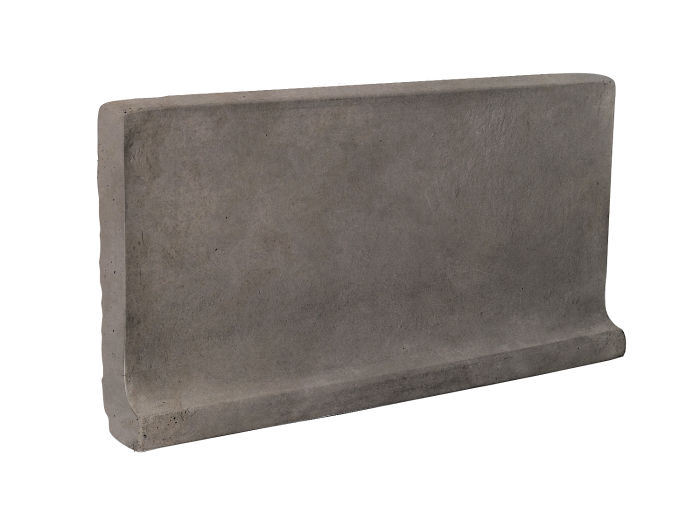 6x12 Cove Base Flat Top Smoke Limestone