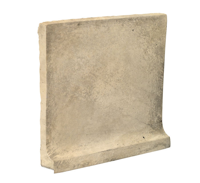 8x8 Cove Base Flat Top Bone Limestone