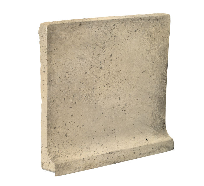 8x8 Cove Base Flat Top Bone Travertine