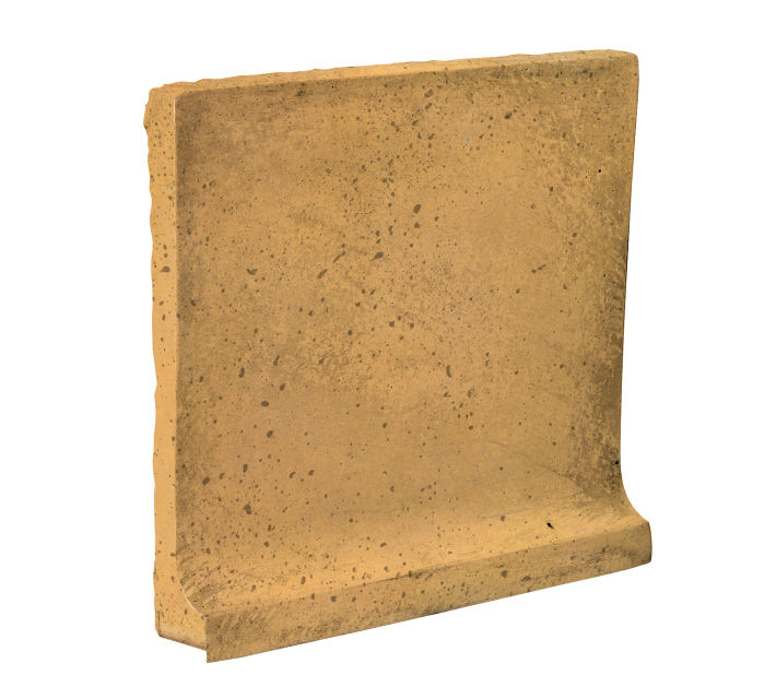 8x8 Cove Base Flat Top Buff Travertine