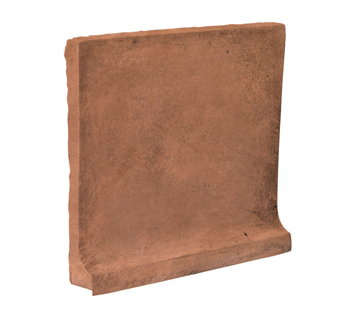 8x8 Cove Base Flat Top Cotto Gold Limestone