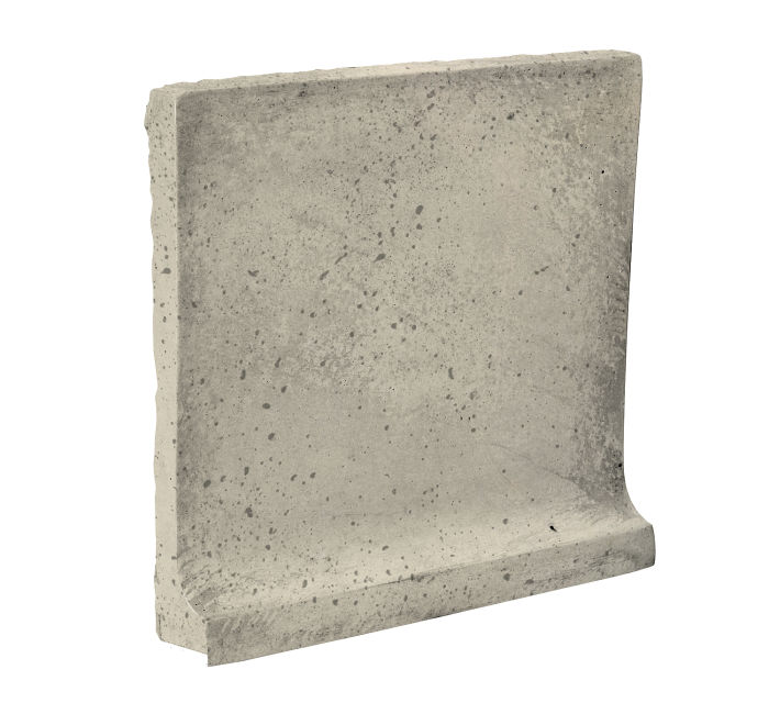 8x8 Cove Base Flat Top Early Gray Travertine