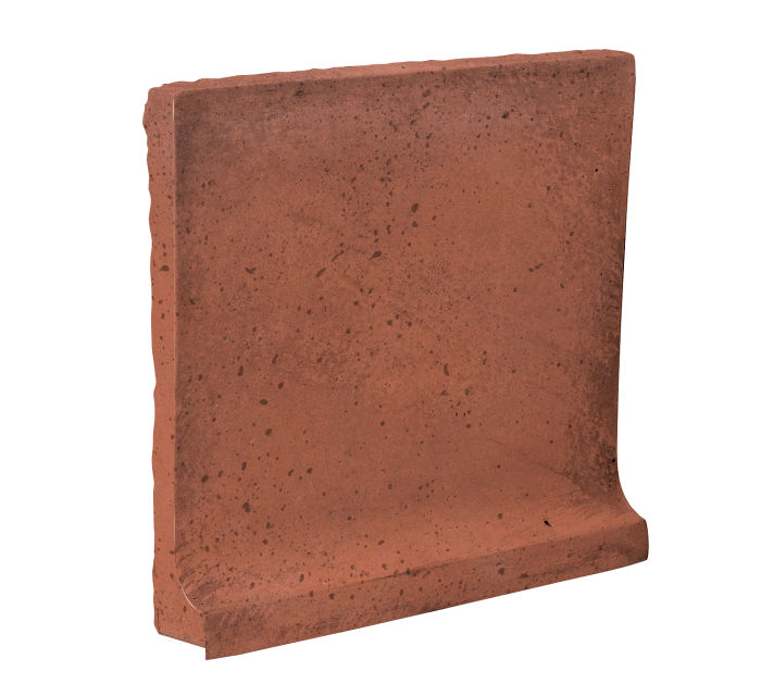 8x8 Cove Base Flat Top Mission Red Travertine