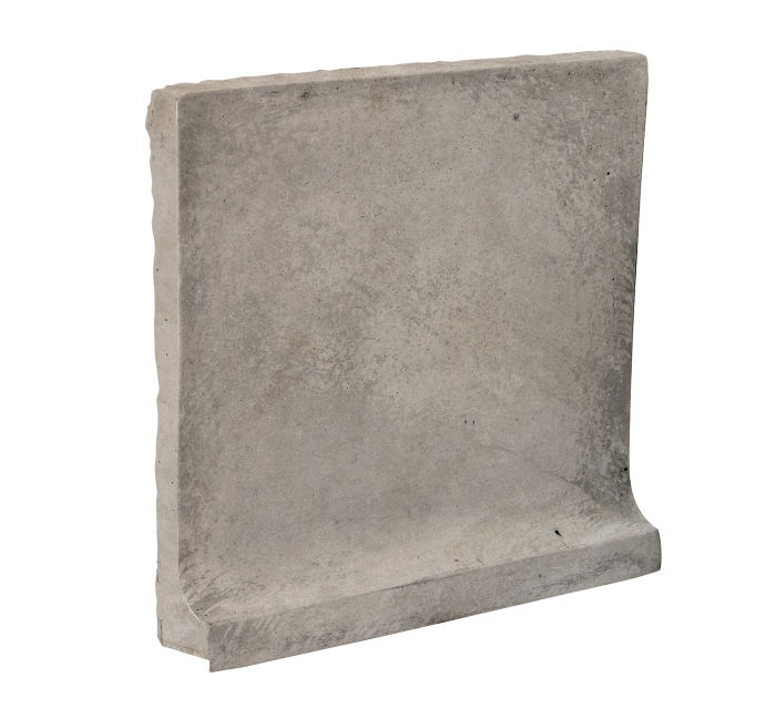 8x8 Cove Base Flat Top Natural Gray Limestone