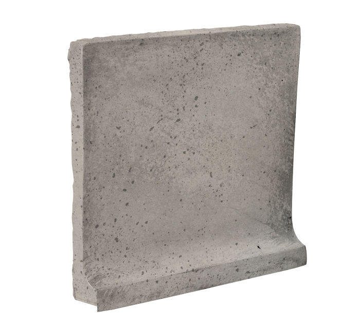 8x8 Cove Base Flat Top Natural Gray Travertine