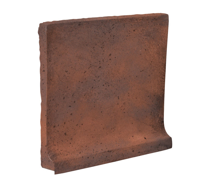 8x8 Cove Base Flat Top Red Flash Travertine