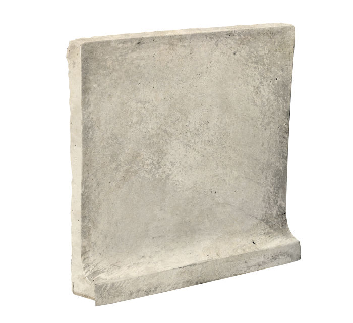 8x8 Cove Base Flat Top Rice Limestone