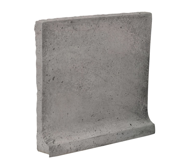 8x8 Cove Base Flat Top Sidewalk Gray Luna