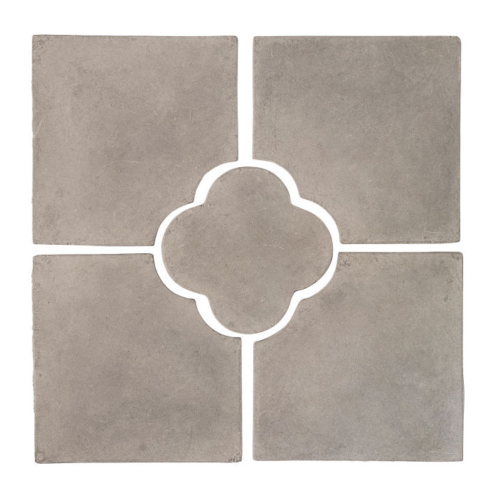 17x17 Daisy Deco Set (5 PCs) Natural Gray