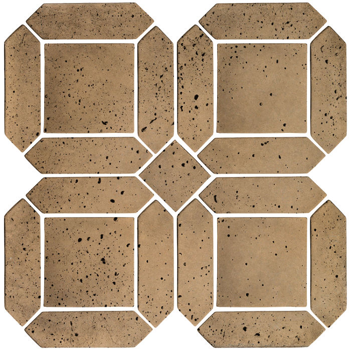 3x11 Artillo Double Picket Set Caqui Travertine