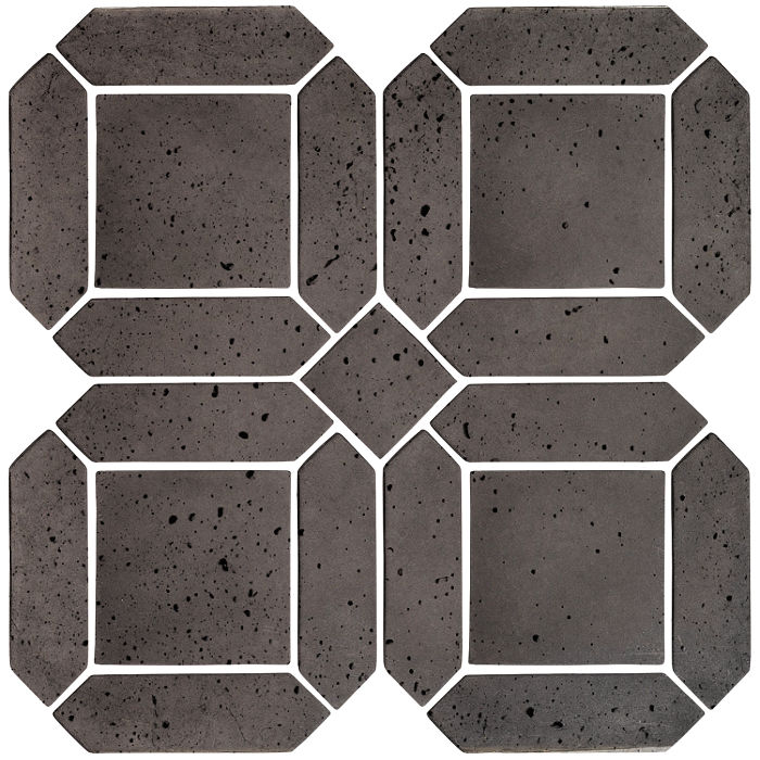 3x11 Artillo Double Picket Set Charcoal Travertine
