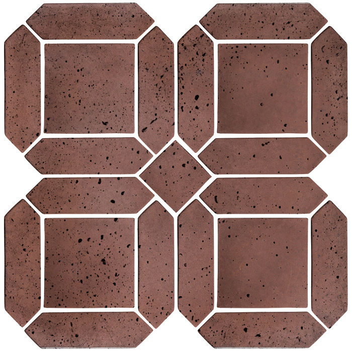 3x11 Artillo Double Picket Set City Hall Red Travertine