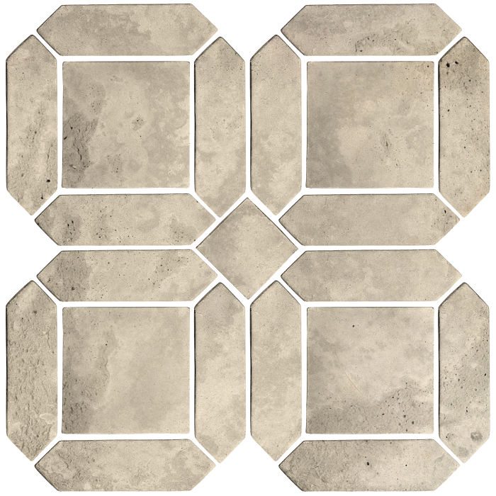 3x11 Artillo Double Picket Set Early Gray Limestone
