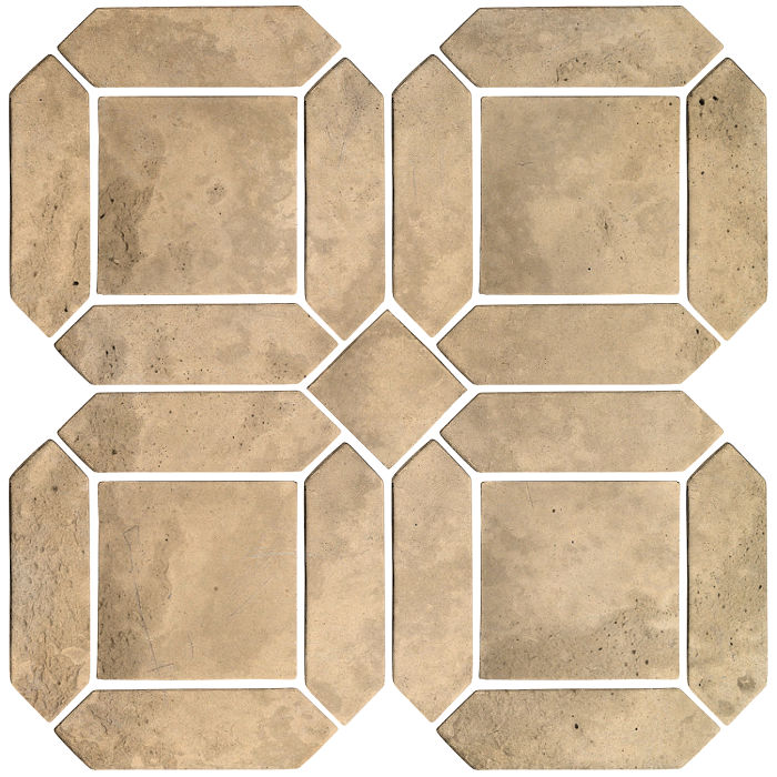 3x11 Artillo Double Picket Set Hacienda Limestone