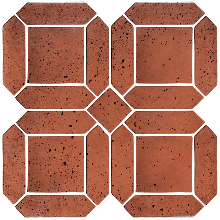 3x11 Artillo Double Picket Set Mission Red Travertine