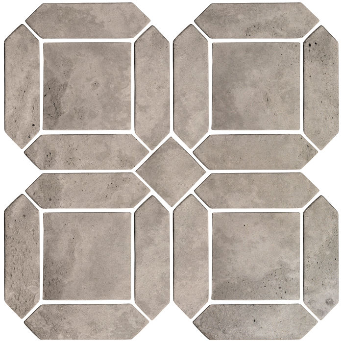 3x11 Artillo Double Picket Set Natural Gray Limestone