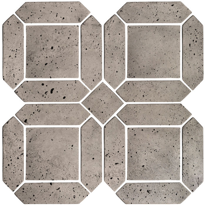 3x11 Artillo Double Picket Set Natural Gray Luna